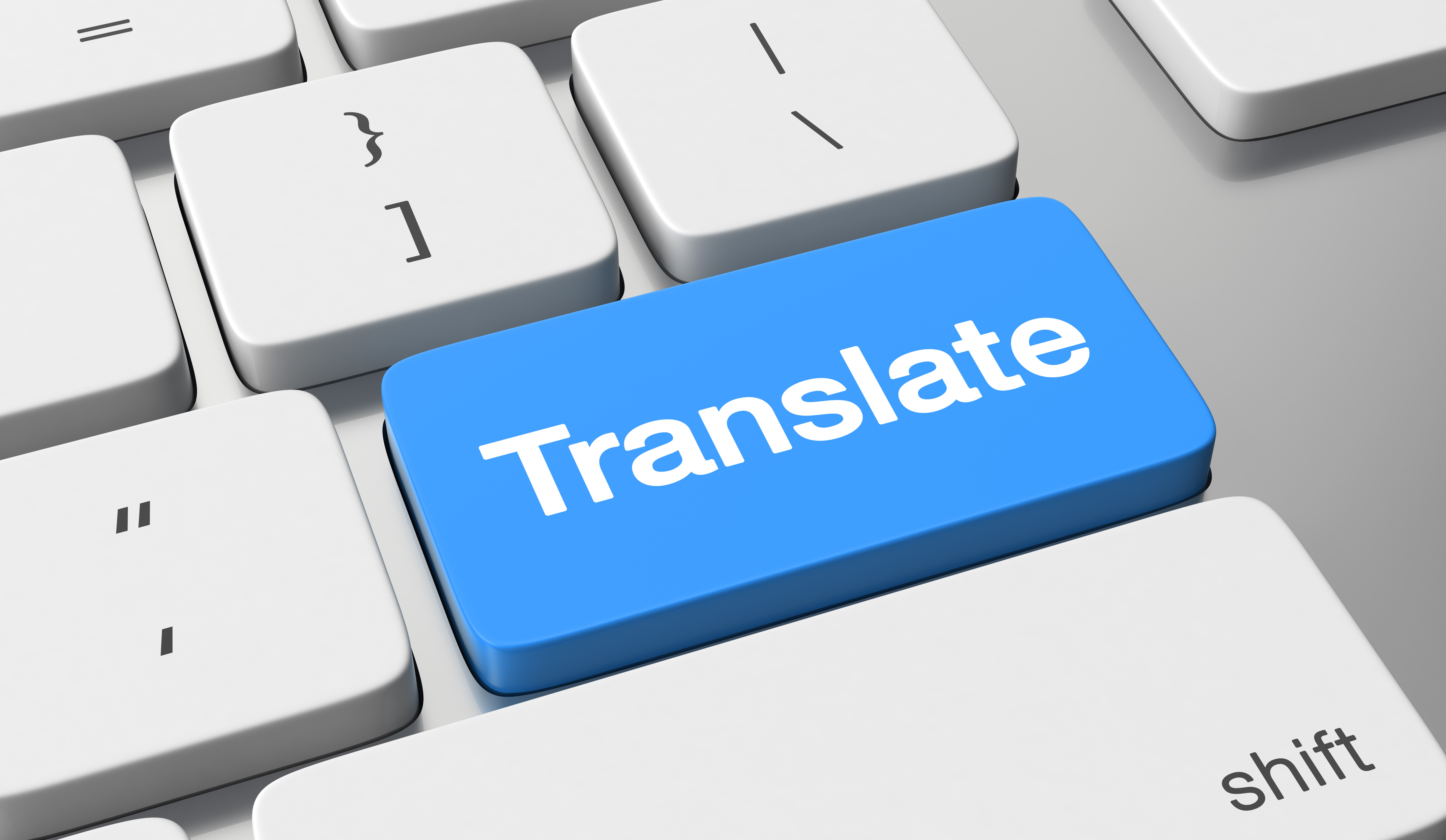 Translate Blue Button