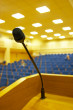 microphone in empty hall